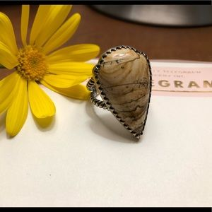 Sterling Silver South Western Jasper Ring🌻